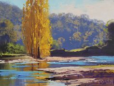Graham Gercken is an award winning Australian landscape painting artist who was born in He is a self-taught artist who loves to paint with oil paint. Landscape Painting Artists, Impressionist Landscape, Landscape Artwork, Artist Painting, Unique Paintings, Oil Paintings, Korean Painting, River Painting, Mountain Paintings