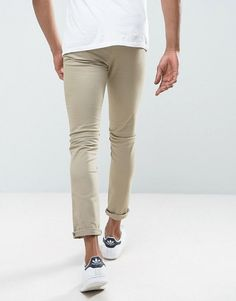New Look Skinny Chinos In Stone - Stone