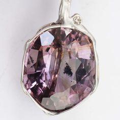 Amethyst Diamant Anhänger