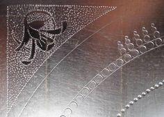 Pracownia Ikonograficzna: Puncowanie złoceń na pulmencie