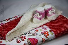 Babyschuhe stricken + Babydecke nähen // Set