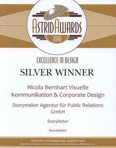Dieser Award war nur so ein bisschen für uns. Denn unsere freie Mitarbeiterin Nicola Bernhart hat ihn gewonnen. Für unseren Newsletter. Und deshalb sind wir darauf gemeinsam stolz.