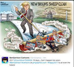 New Brooms Sweep Clean Ben Garrison Cartoon