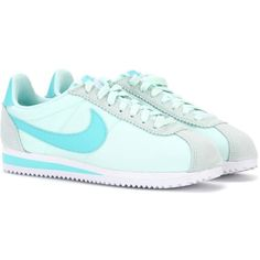 Nike Nike Classic Cortez Sneakers ($69) ❤ liked on Polyvore featuring shoes, sneakers, blue, nike trainers, blue sneakers, blue shoes, nike sneakers and nike