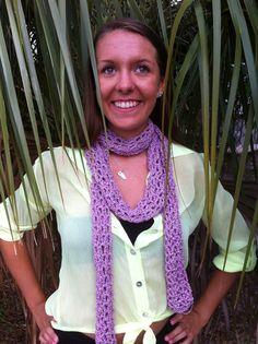 Handmade Sparkle Pink Crochet Scarf