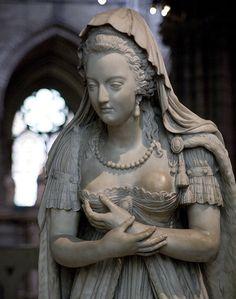 Marie Antoinette memorial in the Saint Denis Basilica Paris France