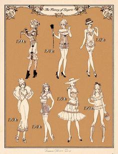 Fashion History, Fashion Art, Fashion Design, Vintage Fashion Sketches, Mode Alternative, Jolie Lingerie, Poses References, Illustration Art, Illustrations