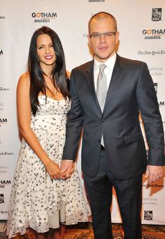 """Matt Damon    Matt Damon and Luciana Barroso, a former bartender, married in 2005 and have four daughters together (one is Barroso's from a previous marriage). Damon said that he and Barroso never go more than a week without seeing each other, and called her """"my soulmate."""""""