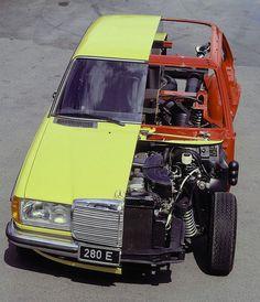 1977 Mercedes-Benz 280E (W123) Cutaway