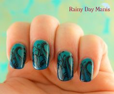 Today's nail art: A gradient with MoYou London stamping.