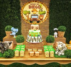 Baby Shower Ideas For Boys Jungle Safari Themed Birthday Parties New Ideas Safari Birthday Cakes, Jungle Theme Birthday, Jungle Theme Parties, Lion King Birthday, Safari Theme Party, Wild One Birthday Party, Safari Birthday Party, Animal Birthday, 1st Boy Birthday