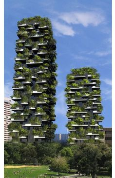 World's First Vertical Forest, Now Under Construction In Milan, Italy, architects are tackling the problems of the concrete jungle by building a vertical forest in the city.