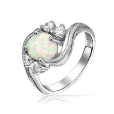 f102b5445 Bling Jewelry Vintage CZ Sterling Silver Opal Engagement Ring $39.99  #topseller Klasické Šperky, Šperky