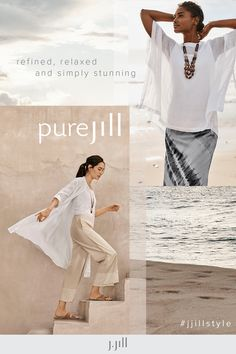 Pure Jill styles with subtle-to-rich textures add depth and dimension (and incredible ease) to your summer. Everyday Casual Outfits, Casual Wear, Boat Neck Dress, Long Vests, Linen Shorts, Slim Legs, Asymmetrical Dress, Wrap Style