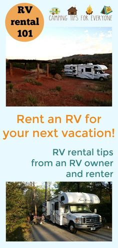 If you're thinking about an RV rental for your next vacation you'll find all the tips you need to find the perfect motorhome and plan the RV trip you've been dreaming of! RV rental tips from an RV owner who began as an RV renter! What To Bring Camping, Camping With Kids, Family Camping, Family Travel, Rv Camping Tips, Camping For Beginners, Camping Trailers, Camping Checklist, Camping Essentials
