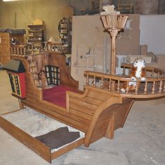 Pirate Ship Playhouse | Pearl Pirate Ship Bed with Trundle by Tanglewood Design