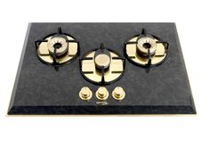 Pramar Stone Absolute Black Granite with Gold 3 burners Hob.