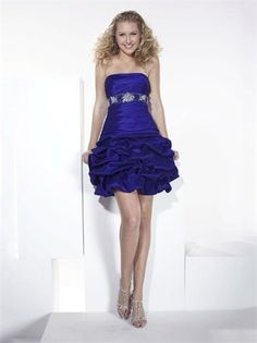 Strapless Empire with Beadings and Pick-ups Lace up Short Taffeta Homecoming Dress HD1680 www.homecomingstore.com $115.0000