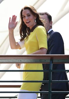 The Duchess gave fans a cheerful wave as she made her way to the Royal Box on Centre Court on day eleven of the 2016 Wimbledon Championships