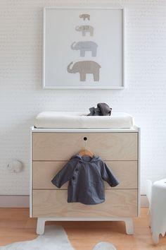 Pokojíček pro miminko v přírodních barvách - přebalovací pult