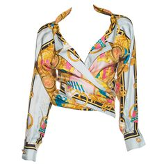 Versace Couture Circa 1990s   From a collection of rare vintage blouses at https://www.1stdibs.com/fashion/clothing/blouses/