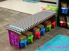 Or a DIY crate bench.