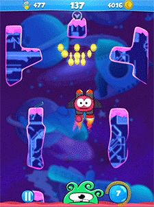 The Jetpack special ability is a great way for #Clumzee to dodge enemies and speedily outrun the hungry monster! #EndlessClimber