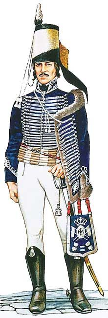 Униформа офицера 2-го прусского гусарского полка фон Рудорффа (von Rudorff), 1806 год - Uniforms Officer 2nd Prussian Hussars background Rudorffa (von Rudorff), 1806