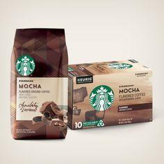 Flavored Coffees | Starbucks® Coffee at Home Roasting Coffee At Home, Starbucks Flavors, Cinnamon Dolce, K Cups, Frappe, Starbucks Coffee, Natural Flavors, Keurig, Mocha