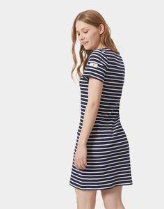 Riviera Hope Stripe French Navy Jersey T-Shirt Dress  | Joules UK