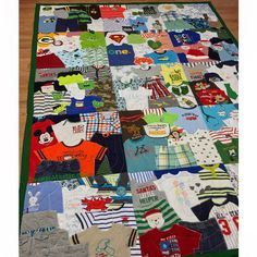 Memory Quilt made with baby clothes by LM Year Quilt - Baby Clothes Crafts , Memory Quilt made with baby clothes by LM Year Quilt Memory Quilt made with baby clothes by LM Year Quilt Baby clothes quilt. Diy Baby Clothes Memory Quilt, Baby Memory Quilt, Baby Clothes Blanket, Crochet Baby Clothes, Memory Quilts, Baby Girl Patterns, Baby Clothes Patterns, Clothing Patterns, Sewing Patterns