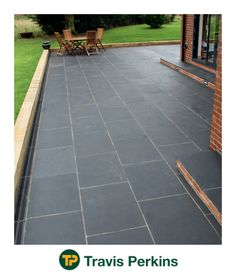 It is a lightly textured limestone in deep black tones which provides a stylish finish to any garden or patio.