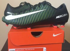 Nike Mens Mercurial Veloce III FG Soccer Cleats Green Blue Black 847756 013