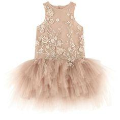Вышитое платье из тюля - 167219