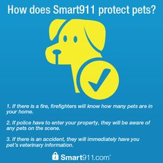 How does Smart911 protect pets? #petsafety