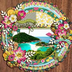 Paradise by chocochoco  Brook Magee & Misty Cato ~ Papaya Paradise http://www.sweetshoppedesigns.com/sweetshoppe/product.php?productid=27698&cat=669&page=2 Brook Magee ~ Duo 06: Spring A Round