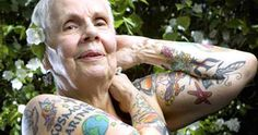 25 Tattooed Seniors Showing Off Tattoos From The Past