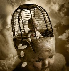 "Saatchi Art Artist: Thomas Francisco; Digital 2010 Photography ""Bird in a Cage"""