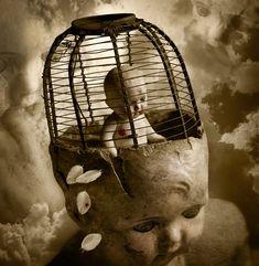 "Saatchi Online Artist: Thomas Francisco; Digital, 2010, Photography ""Bird in a Cage"""