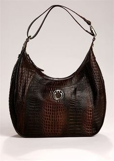 The Bag Lady of Tulsa - Santa Fe Designer Conceal Hobo. Alligator Embossed  Leather. d7d821156ab4e