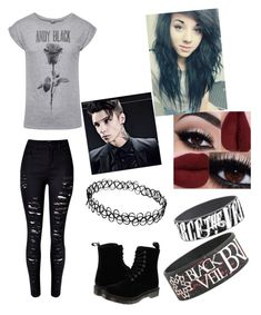 """Emo"" by asheyrae2003 on Polyvore featuring WithChic and Dr. Martens"