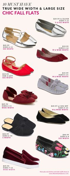 47a143afbb3 The queen of wide width and large size shoes just launched her annual must  have flats list!