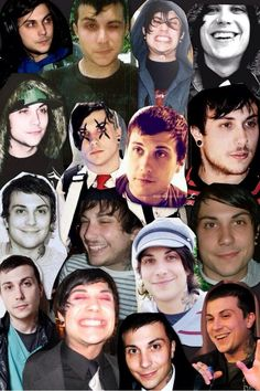 Frank Iero (fan art) collage