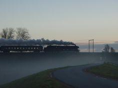 Passage van de SSN Kerst (stoom) express 6-12-2014. Foto Peter Smit.