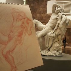 Drawing the Getty's new Bouchardon show.  The faun looks gorgeous in the lobby!  General's sanguine pencil on Strathmore toned tan paper #faun #sleepingfaun  #ancientart #redchalk #sanguinedrawing #sanguine @generalpencil  #gettyinspired #classicalart #figurative #figurativeart  #figuredrawing #lifedrawing #getty #drawing #interiordecor #interiordesign #sketchbook #art #drawanyway  #обнаженка #рисунок #gayerotic #castdrawing drawing #malenudeart #academicdrawing #academicart #realisticart…