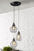 Buy Woodstock 3 Light Flush Fitting from the Next UK online shop Flush Ceiling Lights Uk, Wall Lights, 3 Light Pendant, Pendant Lighting, Kitchen Dining Living, Fabric Shades, Polished Nickel, Industrial Style, Uk Online
