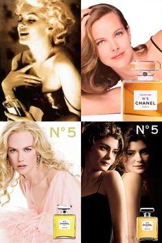 Marilyn Monroe, Catherine Deneuve, Nicole Kidman & Audrey Tautou For Chanel N°5
