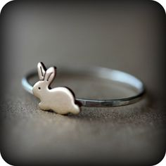 Bunny ring - argent sterling et laiton by LeCubicule on Etsy https://www.etsy.com/listing/79564126/bunny-ring-argent-sterling-et-laiton
