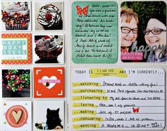 DITL Week 12, by Alissa Fast using the 5 o'Clock Collection from www.cocoadaisy.com  #cocoadaisy #scrapbooking #kitclub #DITL #projectlife #pocketpages #stamping #lists