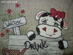 Ulla's Quilt World: Quilt wall hanging - cows